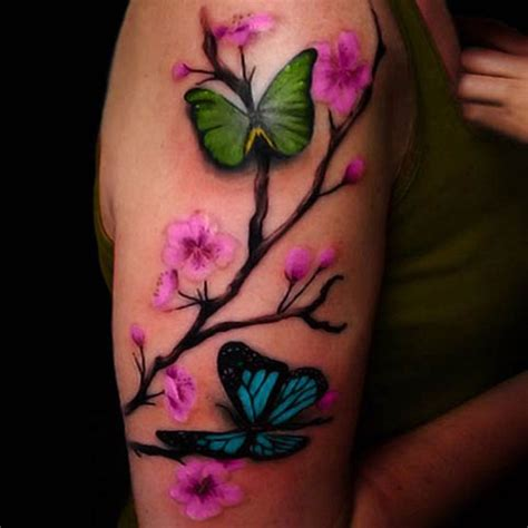 cherry blossom and butterfly tattoo designs 50 flower designs for