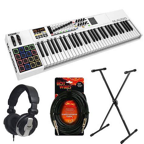 midi keyboard controller stand m audio code 61 key usb midi keyboard controller