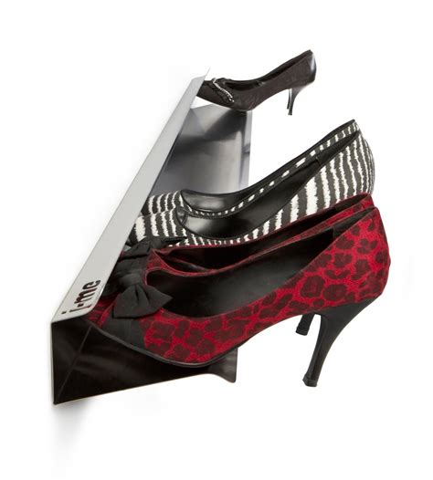 j me design stylish 1200mm high heel shoe rack display