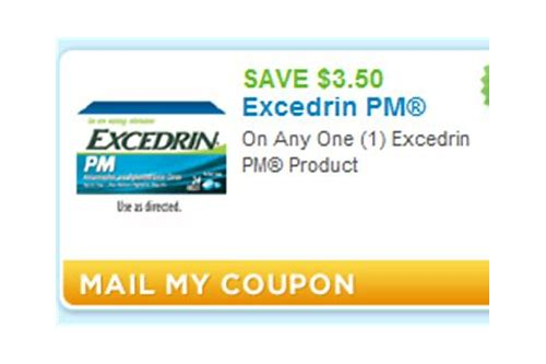 excedrin pm coupons