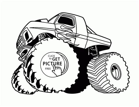 bigfoot truck coloring pages 32 bigfoot truck coloring pages easy bigfoot