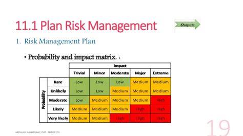 pmbok risk management plan template pmbok project management plan template gantt