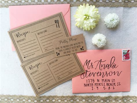 recipe for bridal shower hadley designs free printable recipe cards