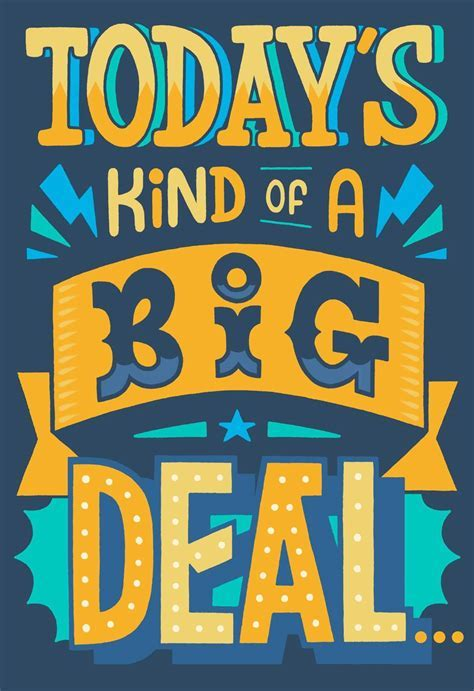 Today's Kind of a Big Deal Birthday Card   Greeting Cards