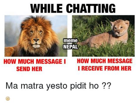 Meme Chat - while chatting meme nepal how much message i how much