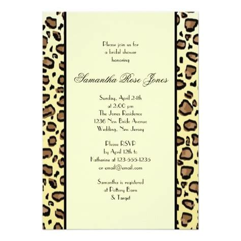 Animal Print Wedding Invitations by 171 Best Animal Print Wedding Invitations Images On