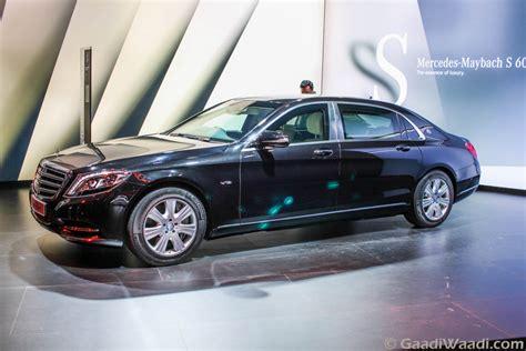 mercedes maybach s600 guard revealed at 2016 delhi auto
