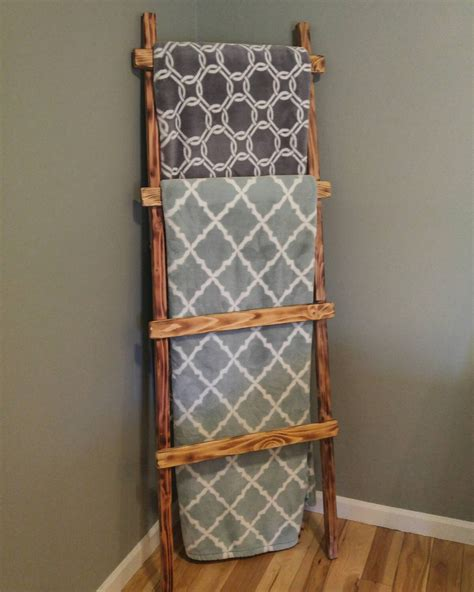 ladder home decor wood ladderblanket ladder rustic home decor by csquaredcustoms