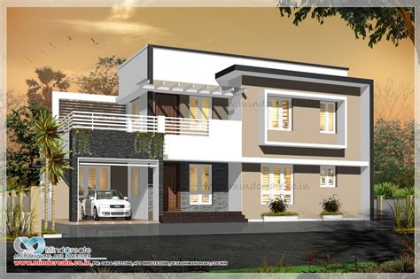Floor Plans For 4 Bedroom Houses by Contemporary Style House Elevation Kerala Model Home Plans
