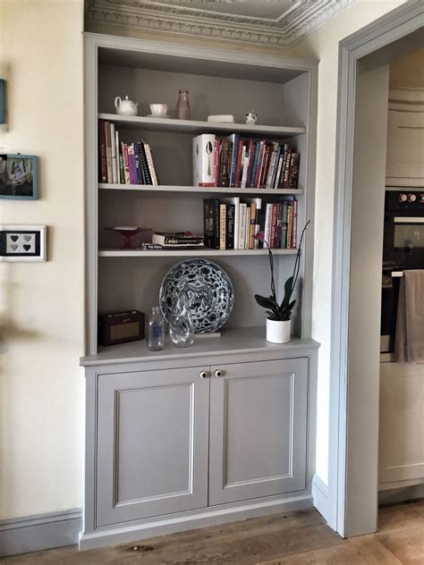 Living Room Alcove Cupboards by Bespoke Fitted Alcove Unit Traditional Dresser Style