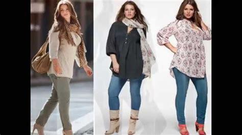 imagenes moda otoño invierno para gorditas ropa casual para dama 2016