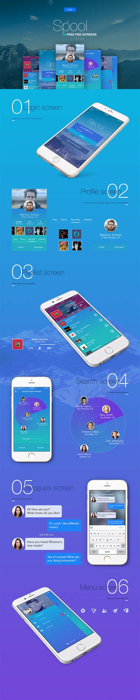 Vibrant Ios App Ui Templates Free Psd Download Download Psd Application Ui Templates