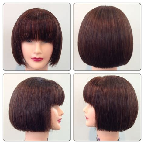 square cut hairstyle square one length hair cut studio 2013 pinterest squares