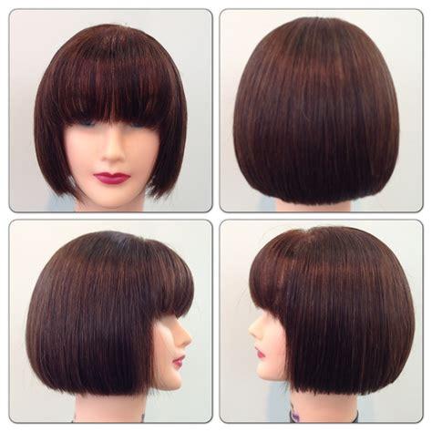 square cut hairdo square one length hair cut studio 2013 pinterest squares