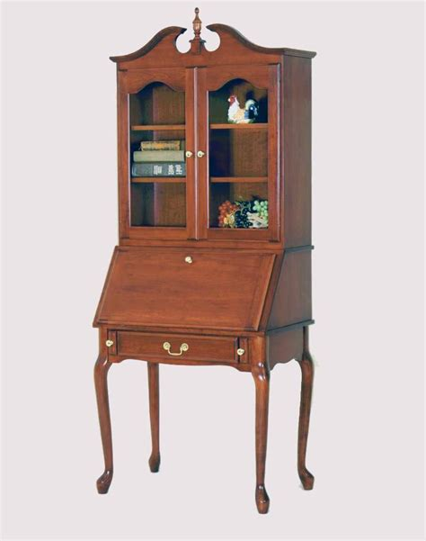 secretary desk with drawers and hutch queen anne consists of two pieces a lowboy and an