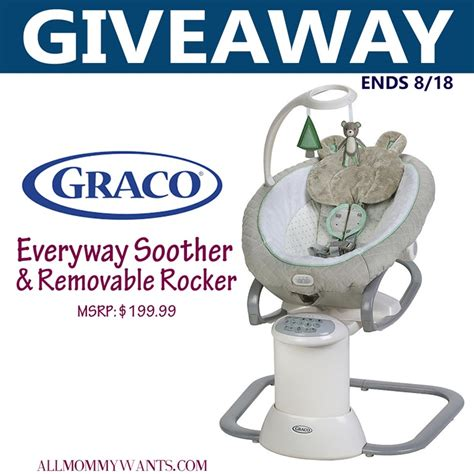Graco Giveaway - graco everyway soother with removable rocker giveaway momstart