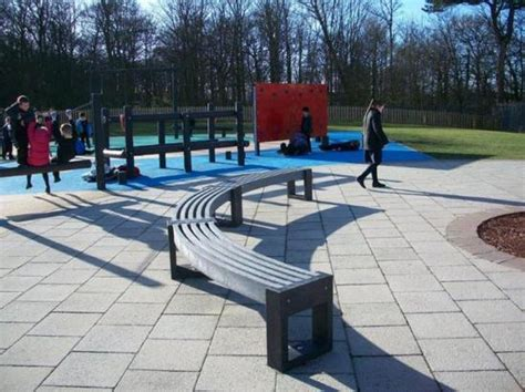 30 degree bench canvas 30 degree recycled plastic curved bench goplastic esi external works