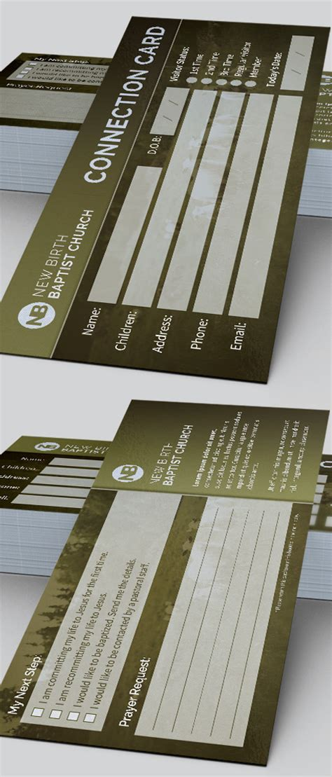 Church Connection Card Template by Sheep Church Connection Card Template On Behance