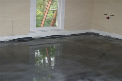 Project In Progress: Full Bathroom   epoxy floor coating