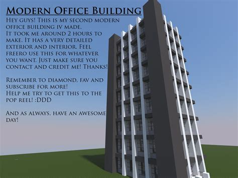 Home Office Ideas by Height Modern Office Building Minecraft Project