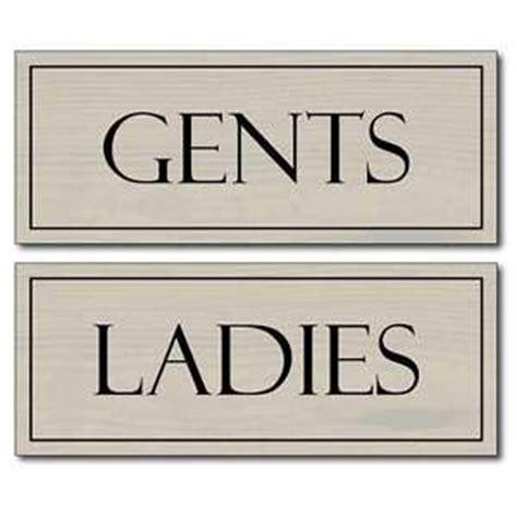 ladies and gents bathroom signs wooden style toilet signs ladies gents loo door signs men