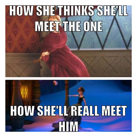 Funny Frozen Memes - disney frozen funny meme how anna meets the one awesome
