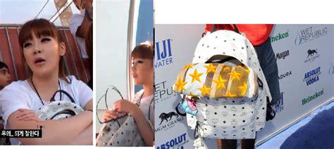 Backpack Mcm Purple Taemin Shinee replica k pop backpack mcm backpack replica