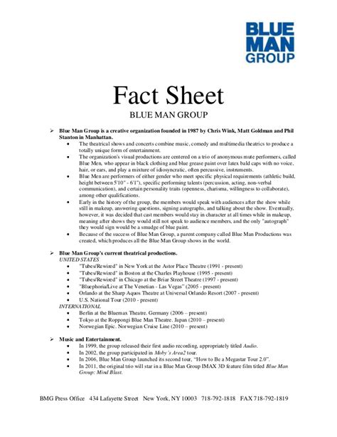 Pr Fact Sheet Template blue press kit