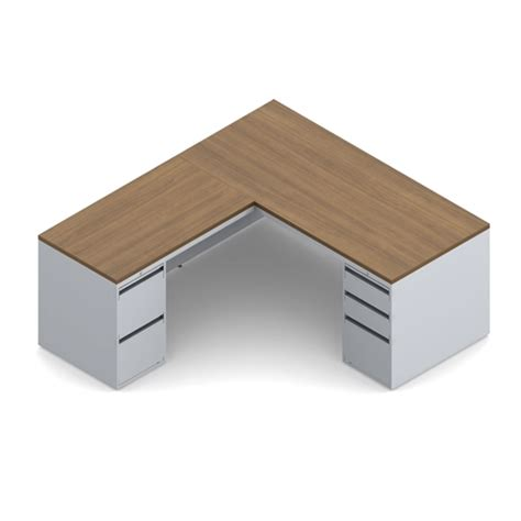 metal desk with laminate top global streamline metal l desk with laminate top stm502r