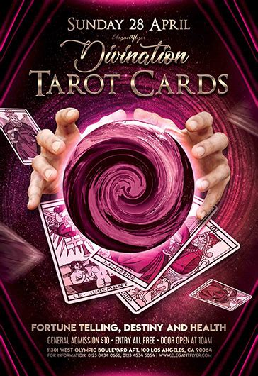 Tarot Card Template Psd by Tarot Cards Flyer Psd Template By Elegantflyer