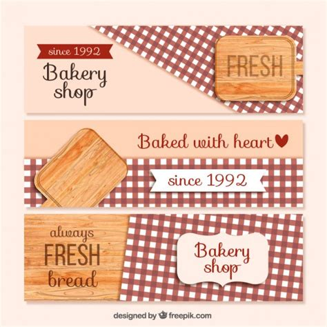 design banner bakery cute bakery banners vector free download