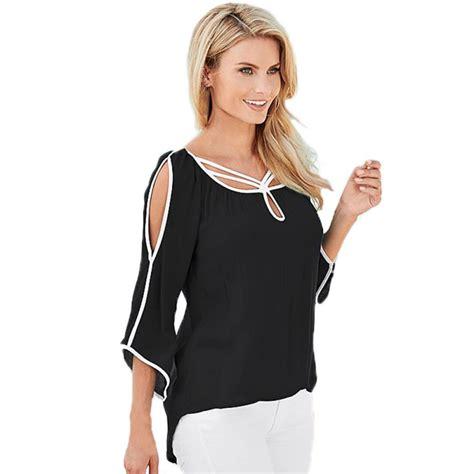 Fashion Blouse cheap blouse tops chiffon blouse pink