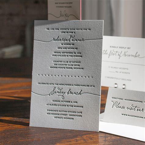letterpress wedding invitations boston boston lucky luxe couture correspondence letterpress wedding stationery