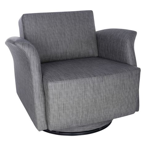 Modern Chairs Ines Swivel Gray Lounge Chair Eurway Club Chairs Swivel