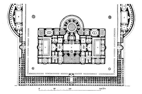 baths of caracalla floor plan part viii big bigger biggest the baths of caracalla