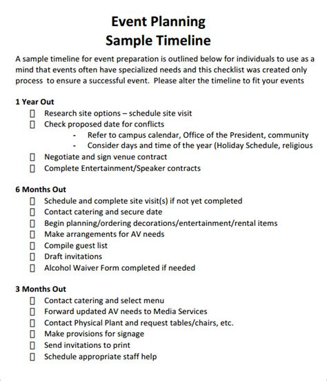 Event Timeline 10 Download Free Documents In Pdf Doc Free Event Timeline Template