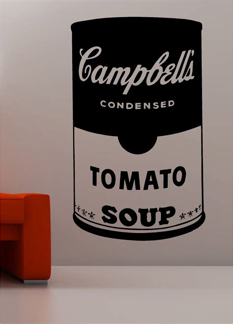 Famous Quote Wall Stickers andy warhol style soup tin pop art wall art quote sticker