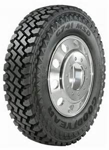 Truck Tire On Goodyear S G741 Msd Truck Tire Boasts A Wide Footprint