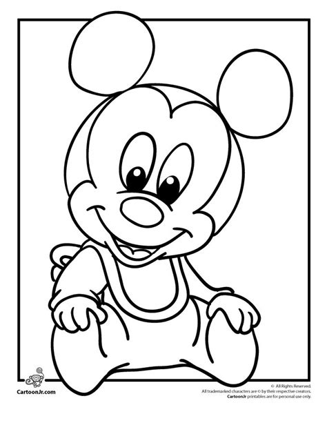baby coloring pages games cool baby minnie mouse drawing hd