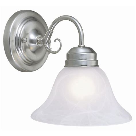 Nickel Wall Sconce Design House Millbridge 1 Light Satin Nickel Wall Mount Sconce 511618 The Home Depot