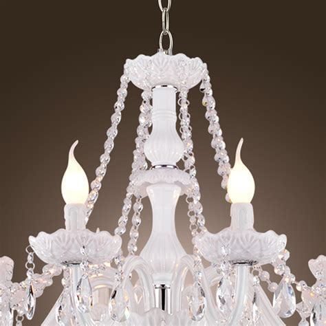 White Chandelier Ebay 8 Arms White Chandelier Candle Light Pendant