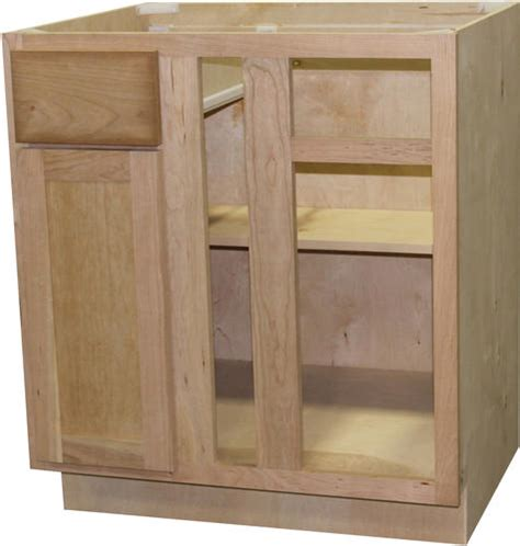 Quality One Cabinets by Quality One 36 Quot X 34 1 2 Quot Unfinished Cherry Blind Corner