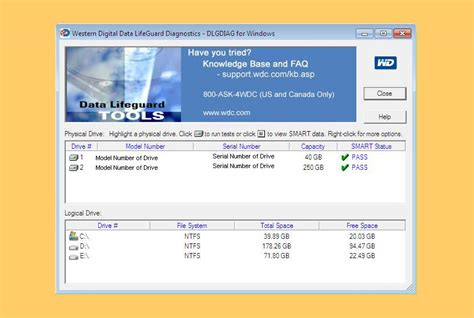 wd bad 6 freeware to check and repair disk bad sectors