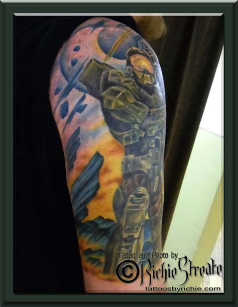master chief tattoo halo 3 master chief s by richie streate