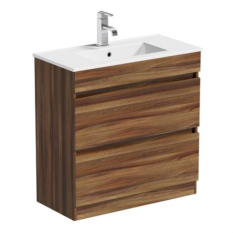 Basin Drawer Unit by Plan Walnut Vanity Drawer Unit And Basin 800mm