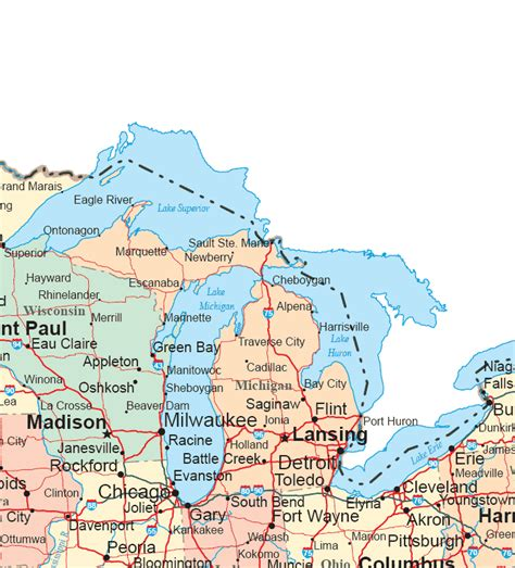 map of the united states midwest region map midwest united states