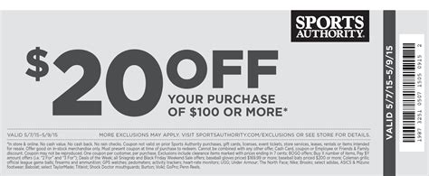 Sports Giveaways Coupon Code - sports authority coupons 20 off 100 at sports authority ditto online