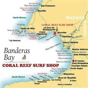 banderas map students picture of coral reef surf shop bucerias