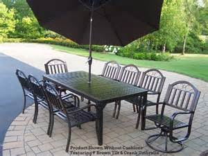 patio furniture rochester ny rochester patio dining set 80x40 table on sale now