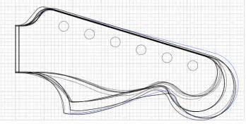 telecaster headstock template printable psa jazzmaster neck as a stratocaster neck